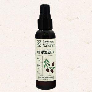 Lazarus CBD Massage Oil Front