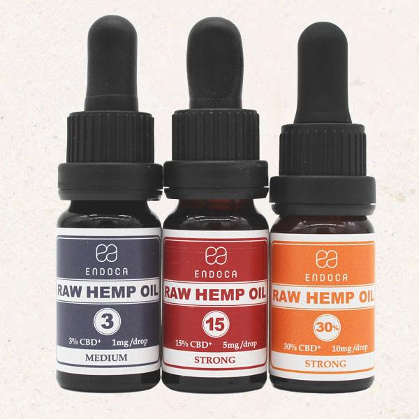 Endoca Raw Hemp Oil Tinctures All Strengths