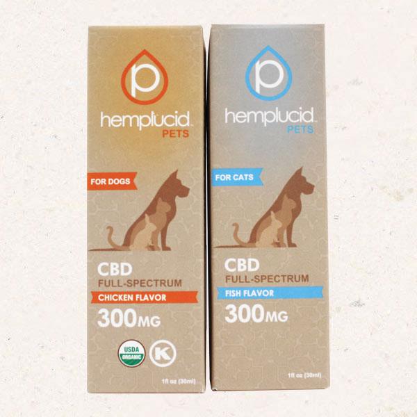 Hemplucid Pet Tinctures 300mg CBD Chicken and Fish Flavors