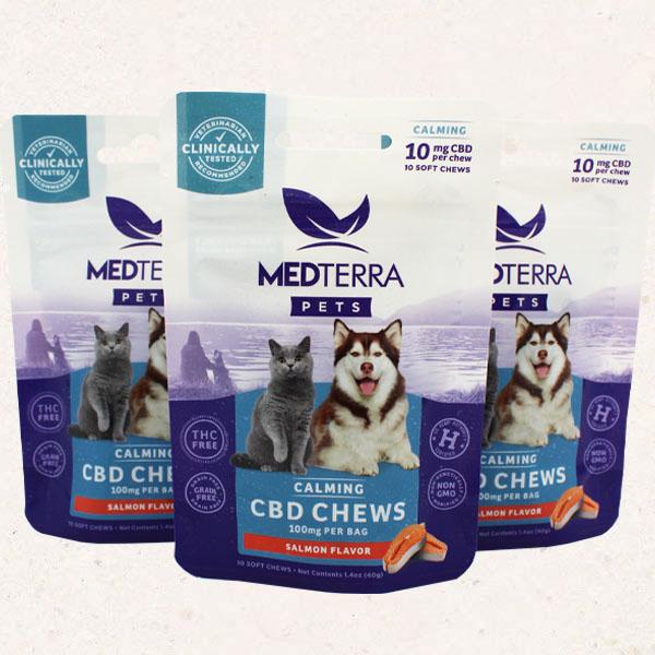 MedTerra Calming CBD Chews Salmon Flavor